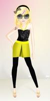 czarna żółta stylizacja