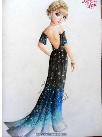 Nocna suknia w stylu Glamour