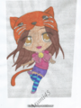 Dziewczyna kot