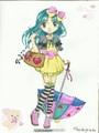 Kolorowanka Manga Model